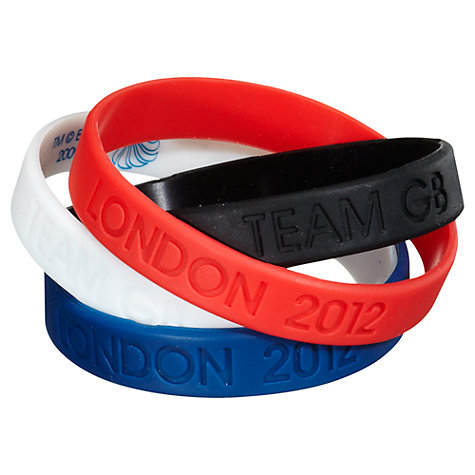 Buy London 2012 Olympic Games Team GB Jelly Wristbands, Pack Of 4 Online at johnlewis.com