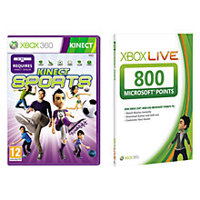 Buy Kinect Sports: Season 2 for Xbox 360 with 800 Xbox 360 Live Points Online at johnlewis.com