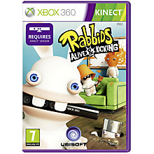 Buy Kinect: Rabbids Alive & Kicking, Xbox 360 with 800 Xbox 360 Live Points Online at johnlewis.com