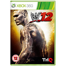 Buy WWE '12, Xbox 360 with 800 Live Points Online at johnlewis.com