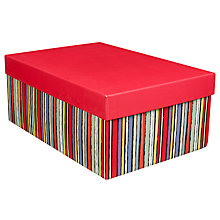 Buy John Lewis Sketch Stripe Gift Box, Medium Online at johnlewis.com