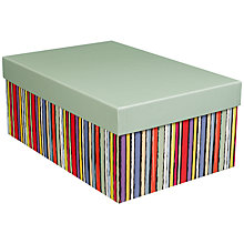 Buy John Lewis Sketch Stripe Gift Box, Small Online at johnlewis.com