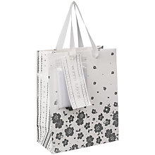 Buy John Lewis Silver Flower Gift Bag, Small Online at johnlewis.com