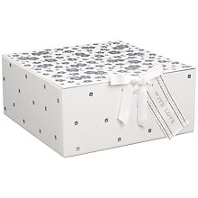 Buy John Lewis Silver Flower Gift Box, Large Online at johnlewis.com