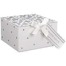 Buy John Lewis Silver Flower Gift Box, Medium Online at johnlewis.com