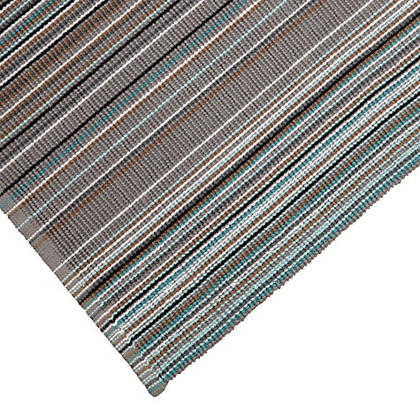 Buy John Lewis Spirit Stripe Bath Mat, Blue Steel Online at johnlewis.com