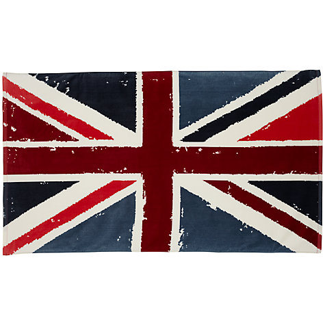 Buy John Lewis Vintage Union Jack Beach Towel, Multi Online at johnlewis.com