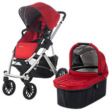 Buy Uppababy Vista Pushchair and Carrycot, Denny Red Online at johnlewis.com