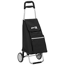 Buy Gimi Argo 2-Wheel Foldable Shopping Trolley, Black Online at johnlewis.com