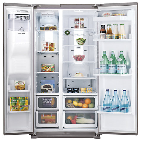Buy Samsung RSH7UNRS American Style Fridge Freezer, Real Stainless Online at johnlewis.com