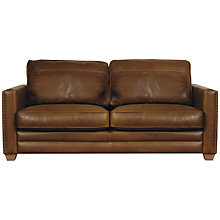 Buy John Lewis Hudson Large Leather Sofa with Light Legs Online at johnlewis.com