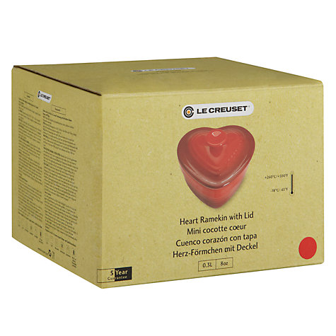 Buy Le Creuset Heart Ramekin with Lid, Cerise Online at johnlewis.com