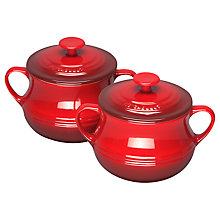 Buy Le Creuset Soup Bowls, Set of 2, Cerise Online at johnlewis.com
