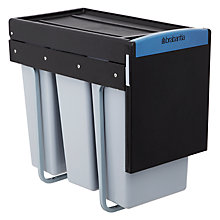 Buy Brabantia Built-in Separator Recycle Bin, 3 x 10L Online at johnlewis.com