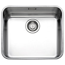 Buy Franke Largo LAX 110 45 Undermounted Single Bowl Sink, Stainless Steel Online at johnlewis.com