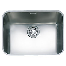 Buy Franke Largo LAX 110 50 Undermounted Single Bowl Sink, Stainless Steel Online at johnlewis.com