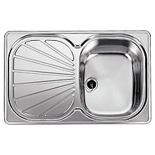 Buy Franke Erica EUX 611 78 Sink with Right Hand Bowl, Silk Steel Online at johnlewis.com