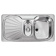 Buy Franke Erica EUX 651 1.5 Inset Sink with Right Hand Bowl Silk Steel Online at johnlewis.com