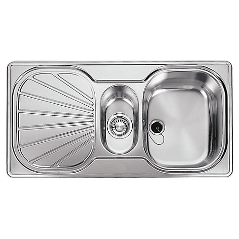 Buy Franke Erica EUX 651 1.5 Inset Sink with Reversible Bowl Silk Steel Online at johnlewis.com