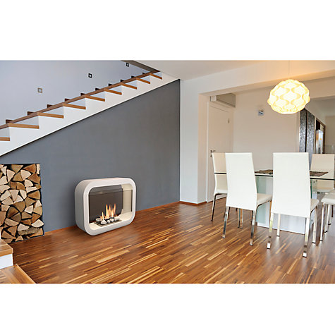 Buy Imagin Oblosk Bioethanol Fireplace, White Online at johnlewis.com