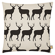 Buy Anorak Kissing Stags Cushion, Cream Online at johnlewis.com