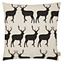 Anorak Kissing Stags Cushion, Cream