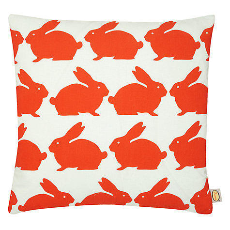 Buy Anorak Kissing Rabbits Cushion, Multi Online at johnlewis.com