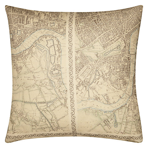 Buy Zoffany Antique London Cushion, Natural Online at johnlewis.com