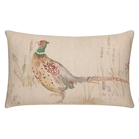 Buy Voyage Pheasant Cushion, Nevis Oatmeal Online at johnlewis.com