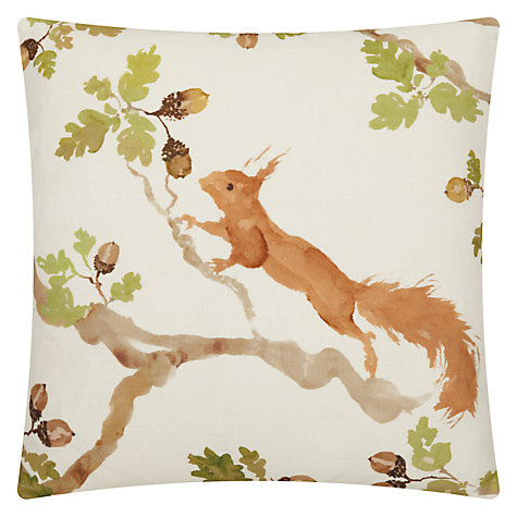 Buy Voyage Playful Squirrel Cushion, Multi Online at johnlewis.com