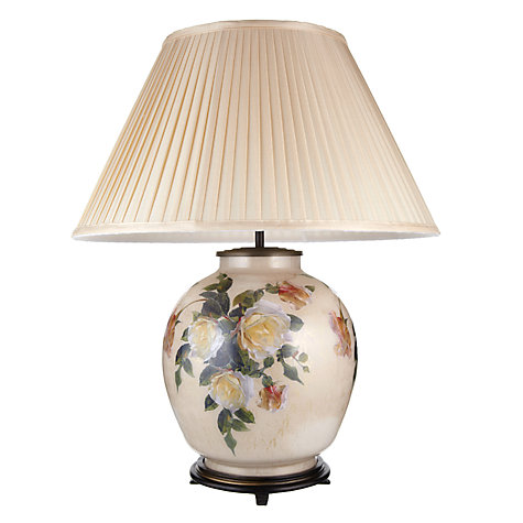 Buy Jenny Worrall Rose & Beige Glass Lamp, Large Online at johnlewis.com