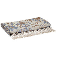 Buy John Lewis Floral Throw, Blue Online at johnlewis.com