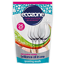 Buy Ecozone Dishwasher 5 in 1 Tab, Pack of 25 Online at johnlewis.com
