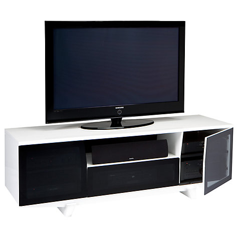 "Buy BDI Marina 8729-2/GW TV Stand for up to 82"" TVs, White Online at johnlewis.com"