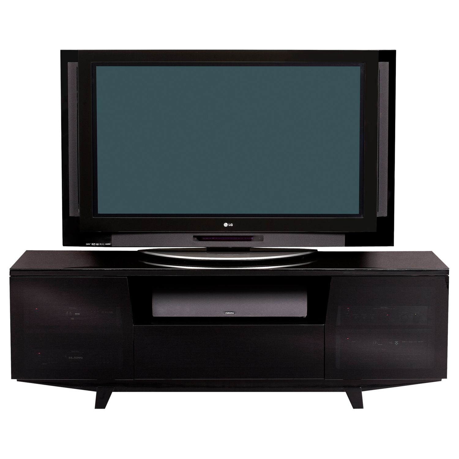 BDI BDI Marina 8729-2/GB TV Stand for TVs up to 82, Black