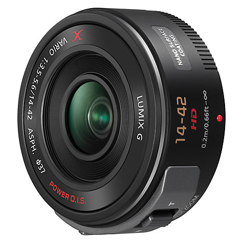 Buy Panasonic LUMIX G X VARIO PZ 14-42mm/f3.5-5.6 ASPH./POWER O.I.S Pancake Lens Online at johnlewis.com