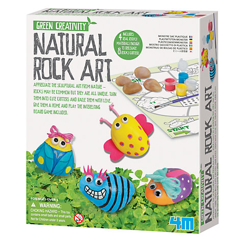 Buy Great Gizmos Green Creativity Natural Rock Art Kit Online at johnlewis.com