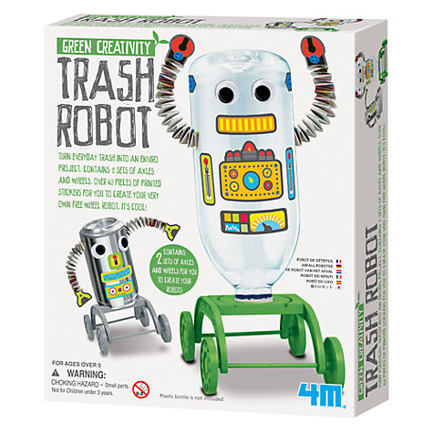 Buy Great Gizmos Green Creativity Trash Robot Kit Online at johnlewis.com