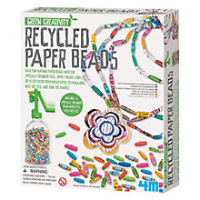 Buy Great Gizmos Green Creativity Recycled Paper Beads Kit Online at johnlewis.com