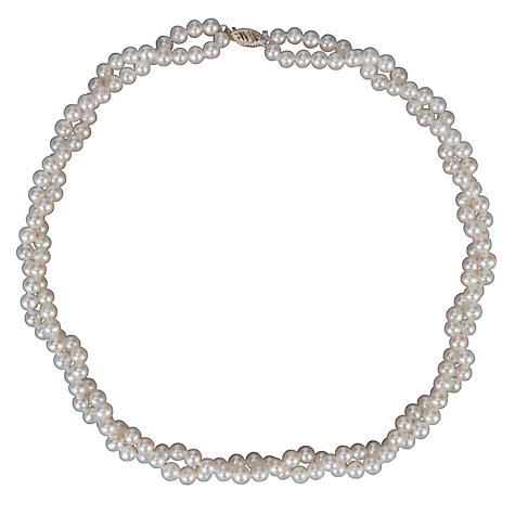 Buy Freshwater Pearl Double Twist Necklace Online at johnlewis.com