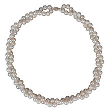 Buy A B Davis Freshwater Pearl Double Twist Necklace Online at johnlewis.com