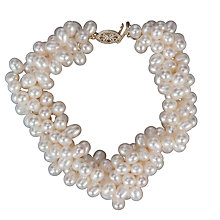 Buy A B Davis Multi Twist Oval Freshwater Bracelet Online at johnlewis.com