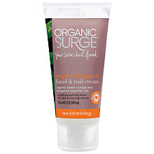 Buy Organic Surge Tropical Bergamot Hand & Nail Cream, 75ml Online at johnlewis.com