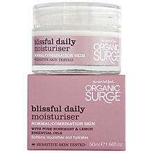 Buy Organic Surge Blissful Daily Moisturiser, 50ml Online at johnlewis.com