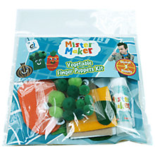 Buy Mister Maker Vegetable Finger Puppets Kit Online at johnlewis.com