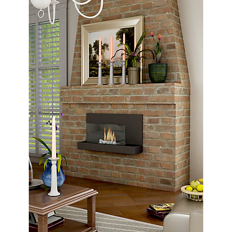 Buy Imagin Alden Bioethanol Fireplace, Midnight Black Online at johnlewis.com
