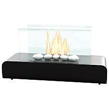 Buy Imagin Dalton Bioethanol Fireplace, Black and Stainless Steel Online at johnlewis.com