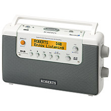 Buy ROBERTS RecordR DAB Digital Radio, White Online at johnlewis.com