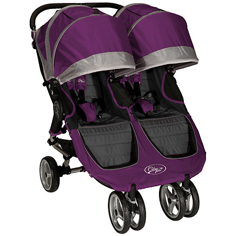 Buy Baby Jogger City Mini Twin Pushchair, Purple Online at johnlewis.com