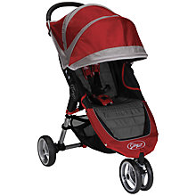 Buy Baby Jogger City Mini 3 Wheeler, Crimson/Grey Online at johnlewis.com